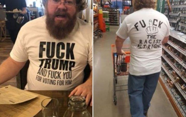 Lo sacaron de restaurante por llevar una camisa anti-Trump