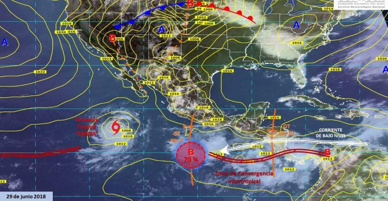 Clima: Onda tropical dejará fuertes tormentas