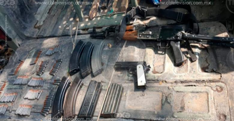 Caen dos Viagras con armas y auto blindado en Cenobio Moreno