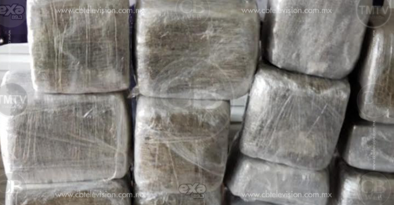 Ex mando policial es detenido con más de 130 kilos de marihuana