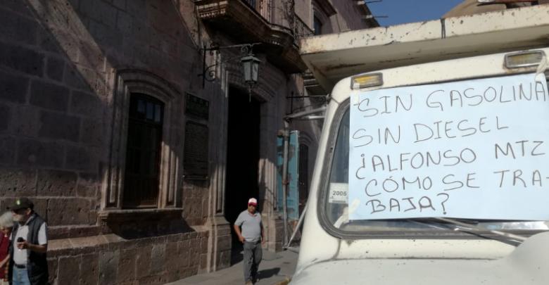 Trabajadores del Ayuntamiento exigen combustible