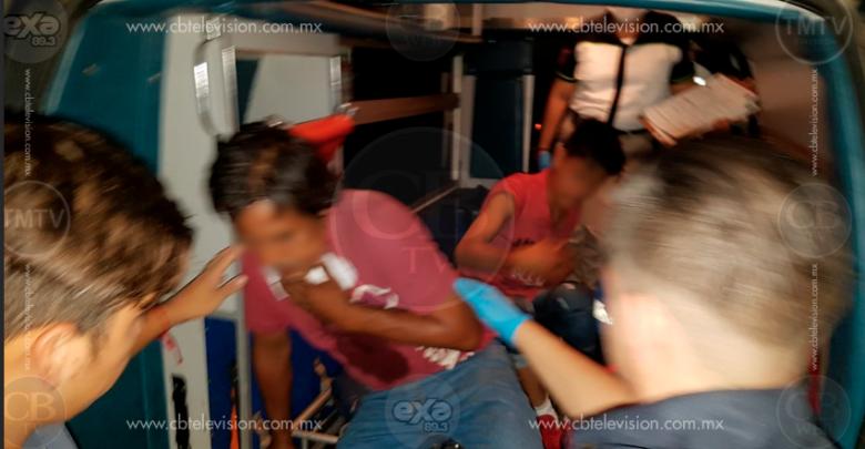 Violenta riña deja a un hombre y su hijo lesionados