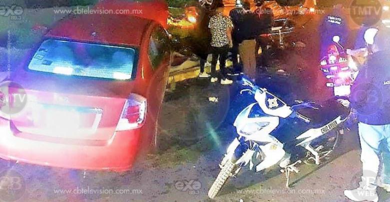 Aparatoso choque - volcadura deja un herido en Uruapan
