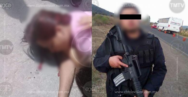 Policía de Puruándiro golpea salvajemente a su pareja