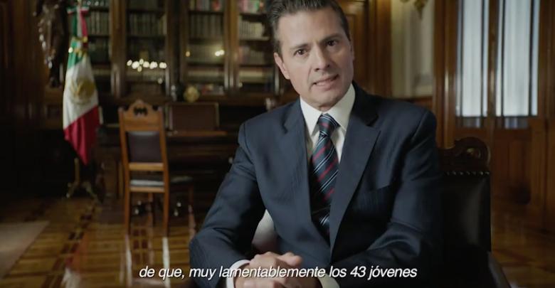 VIDEO: Peña Nieto dice estar convencido de que los 43 de Ayotzinapa fueron incinerados