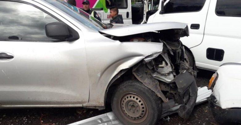 Se registra carambola automotriz en la rúa Zitácuaro-Morelia