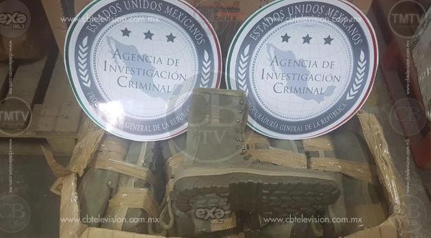 """Aseguran diversos pares de botas """"piratas"""" del Ejército Mexicano"""