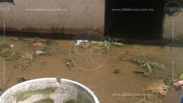Se inunda colonia al poniente de Morelia
