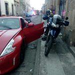 Estudiante de Derecho amedrenta a una familia y choca su propio auto de más de medio mdp contra 3 coches