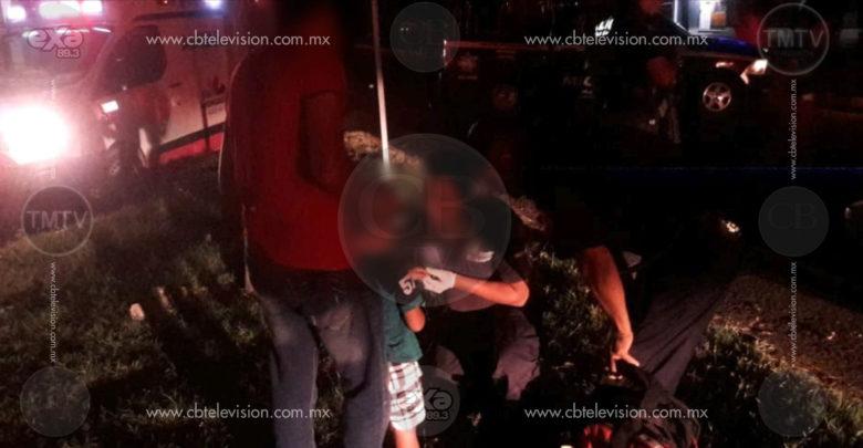 Un niño de cinco años y dos adultos resultaron heridos en choque múltiple