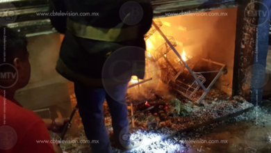 Se registra incendio en comercio del Centro de Lázaro Cárdenas