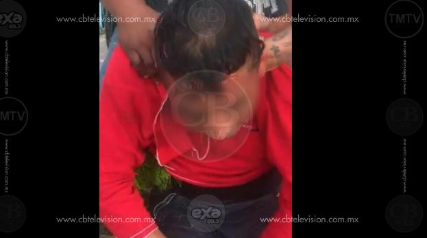 Presunto ladrón que golpeó a una mujer recibe golpiza de testigos
