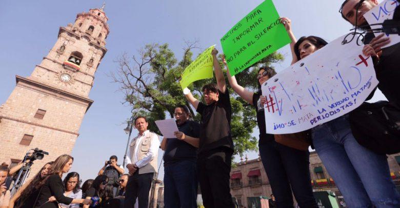 Periodistas de Michoacán expresan su molestia