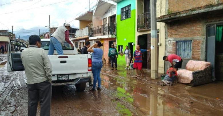 Inicia Secretaría de Desarrollo Humano censo de damnificados por las lluvias