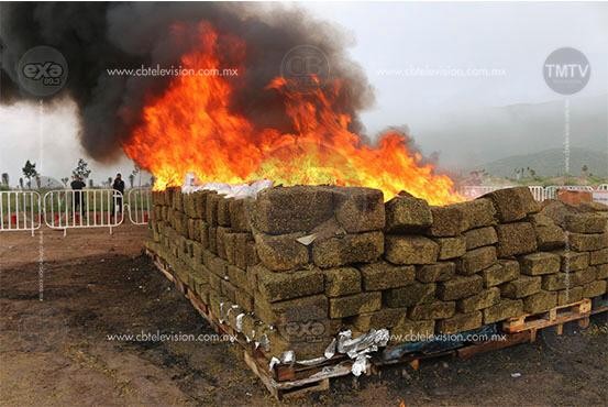 Destruyen 10 toneladas de narcóticos en seis diferentes estados