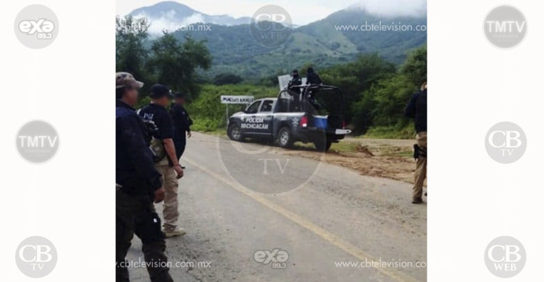 Policía Michoacán arresta a dos implicados en robo de un tráiler