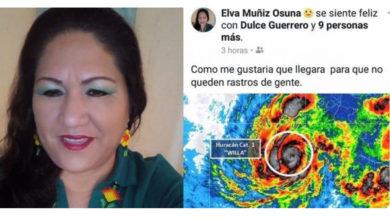 """Ex directora del DIF: Ojala el huracán Willa llegue """"para que no queden rastros de gente"""""""