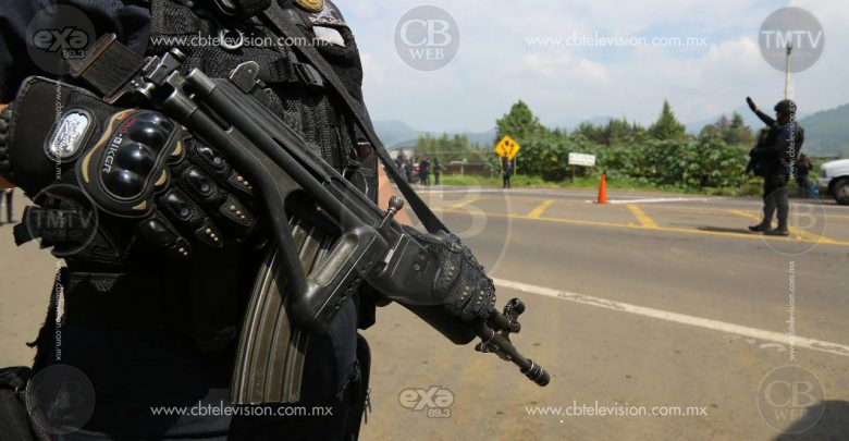 Captura Policía Michoacán a 9 con armados en Uruapan