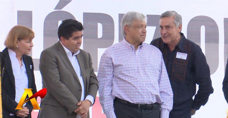 Seguridad, Educación y Salud, temas de AMLO en Michoacán