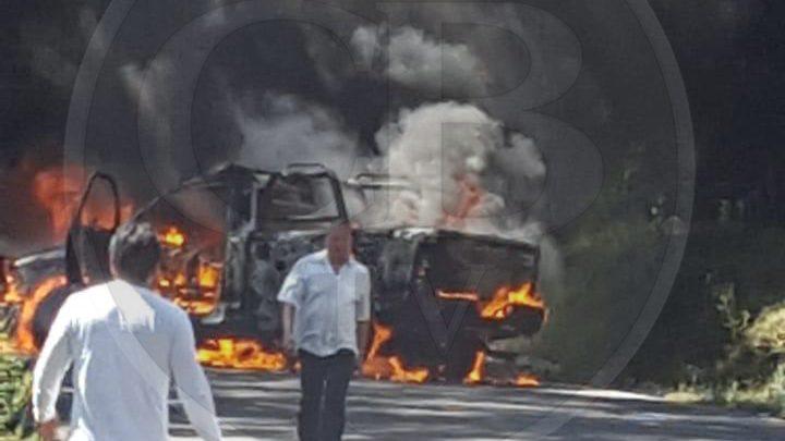 Comuneros de Santa Fe de la Laguna queman una patrulla