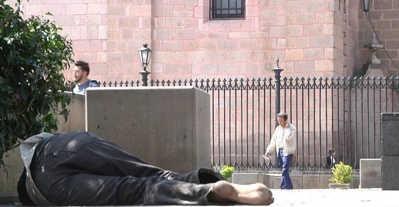 Renuente indigente a abandonar Centro Histórico de Morelia