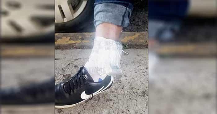 Hombre en libertad condicional cubría su brazalete electrónico con aluminio para seguir asaltando