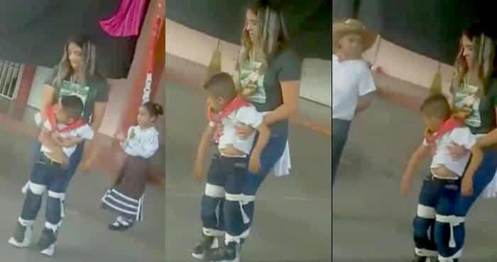 Una maestra se lleva aplausos en las redes; tras ayudar a bailar a alumno con discapacidad
