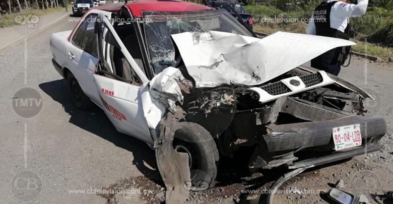 Dos heridos deja choque por alcance al poniente de Morelia