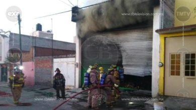 Incendio perjudica bodega cerca del Mercado de Abastos en Morelia