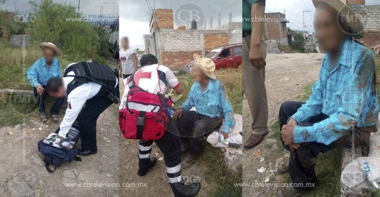 En Morelia: Adulto mayor cae sobre una vara y se le encaja un pedazo en la garganta