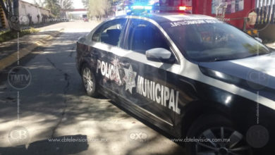 Camioneta con armas huye tras chocar contra patrulla de la Policía Moreliana en Ciudad Industrial