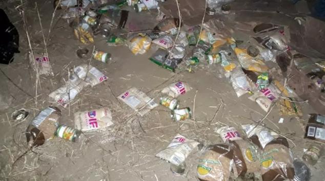 Localizan despensas del DIF enterradas en Guerrero