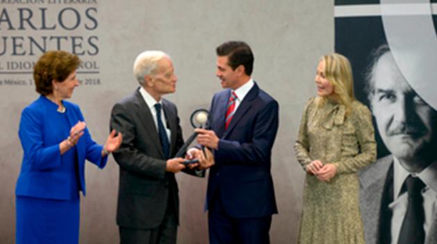 Entrega Peña Nieto el Premio Internacional Carlos Fuentes a la Creación Literaria en Idioma Español