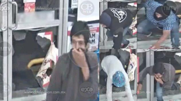 Ladrones rompen cristal de una tienda para poder robar