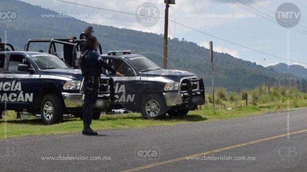 Policía Michoacán encuentra camionetas robadas mientras realizaba recorridos de vigilancia