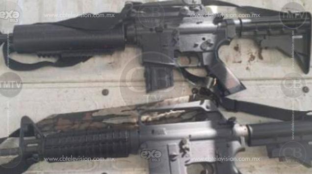 Detiene Policía Michoacán a persona con dos armas largas