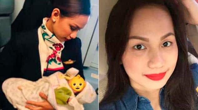 Azafata amamanta a bebé de otra mujer, quien se quedó sin leche en pleno vuelo