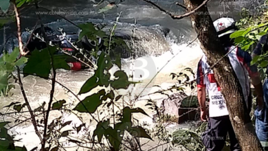 Cae camioneta a río en Cd. Hidalgo; presuntamente viajaba el tesorero de Tuxpan