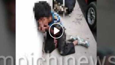"""Fuertes imágenes:Golpean a niño por robar comida; """"moría de hambre"""""""
