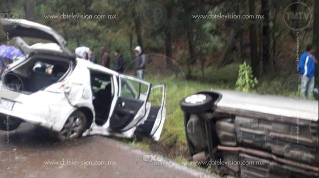 Al menos 8 accidentes en Zitácuaro a causa de las lluvias