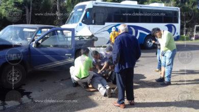 Cuatro lesionados dejó carambola vehicular en la Zitácuaro-Morelia