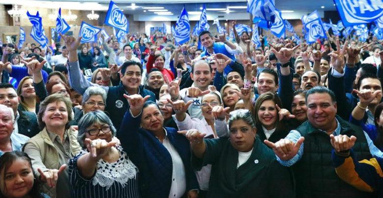 Marko Cortés rinde protesta como nuevo dirigente del PAN