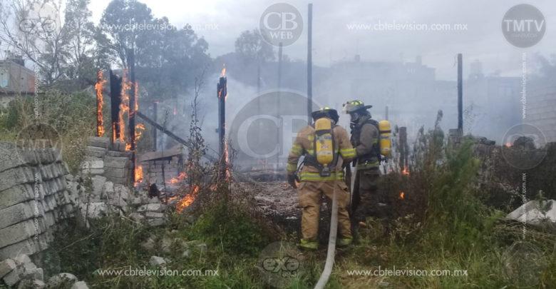 Otra humilde casa se consume por el fuego en Morelia