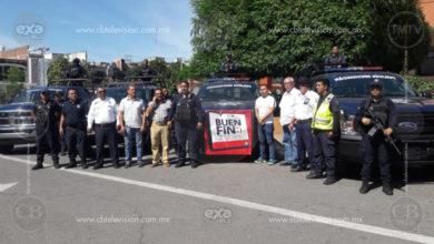 Policía Michoacán vigila las compras del Buen Fin para evitar atracos