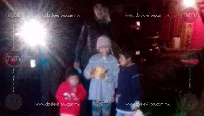 Policía Michoacán traslada a resguardo del DIF municipal a tres menores de edad