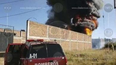 Se incendia bodega y camioneta en Ciudad Hidalgo