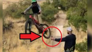 Si ves en redes el video de una moto y una botella, no lo abras