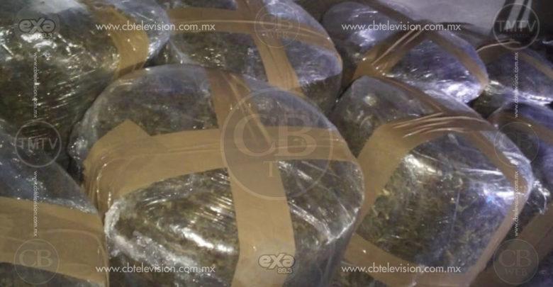 Tras inspeccionar auto, asegura SSP 80 kilos de marihuana en Acuitzio