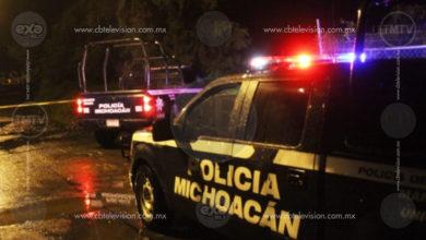 Un muerto y un herido en agresión a balazos en la colonia Niños Héroes de Apatzingán