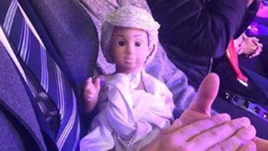 AMLO apareció en un nacimiento en forma niño Jesús